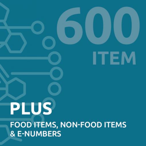 600 item Intolerance Test