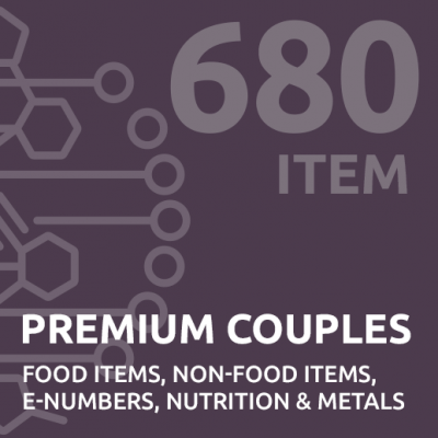 680 item premium couples intolerance test