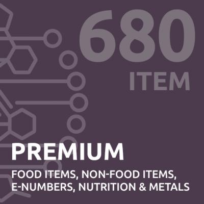 680 item premium intolerance test