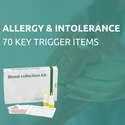 Allergy & intolerance test of 70 items