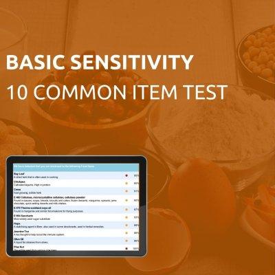 Basic 10 item sensitivity test